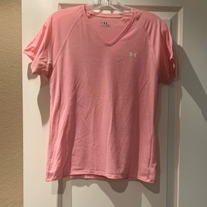 Under Armour pink athletic shirt size Medium